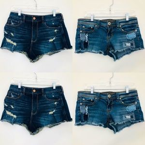 Set of TWO Size 7 Distressed Jean Shorts!